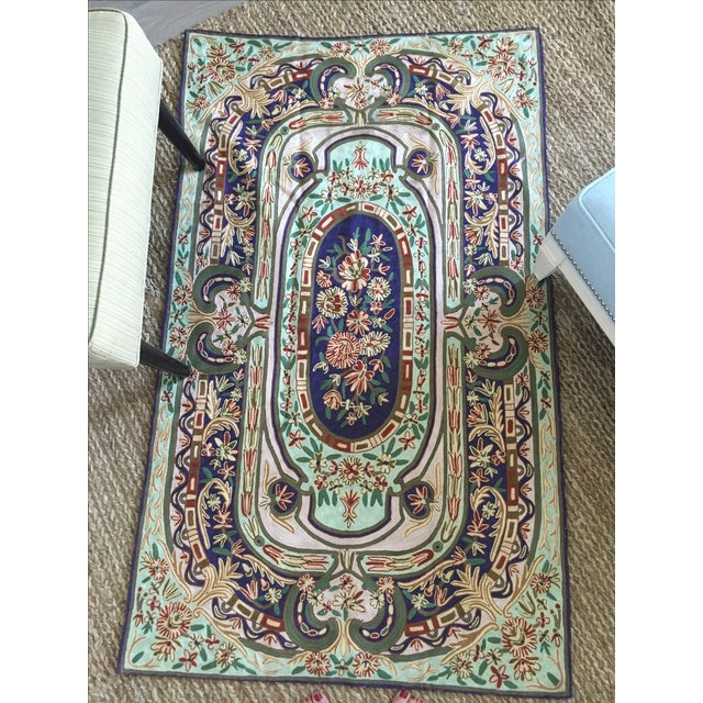 Image of Intricately Embroidered Rug - 2′10″ × 4′10″