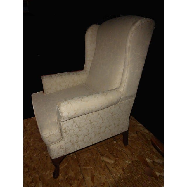 Vintage French Country Wingback Chair - Image 4 of 11