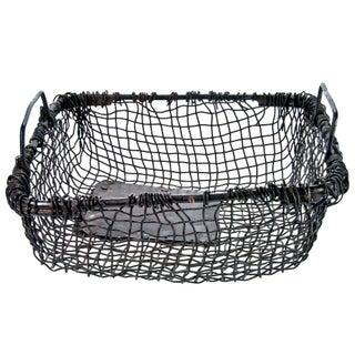 Vintage Rustic Wire Railway Basket