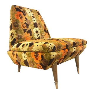 Italian Mid Century Modern Lounge Chair
