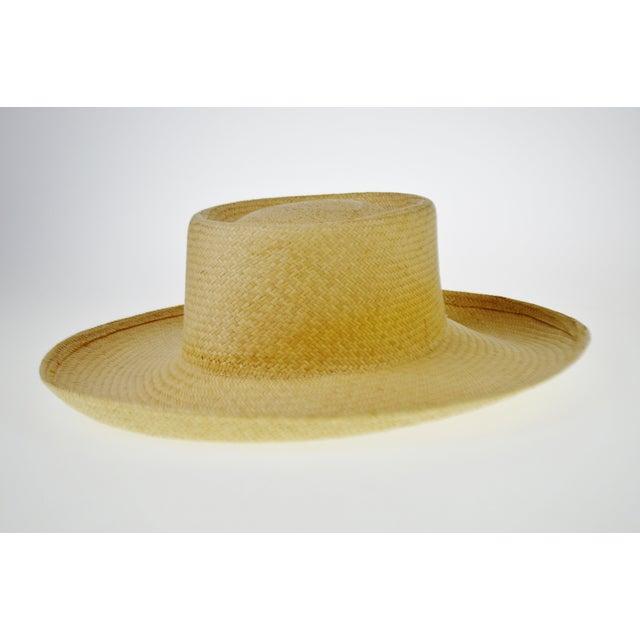 Image of Vintage Genuine Hand-Woven Panama Hat