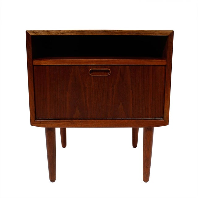 Image of Walnut Danish Accent Table/Nightstand by Falster
