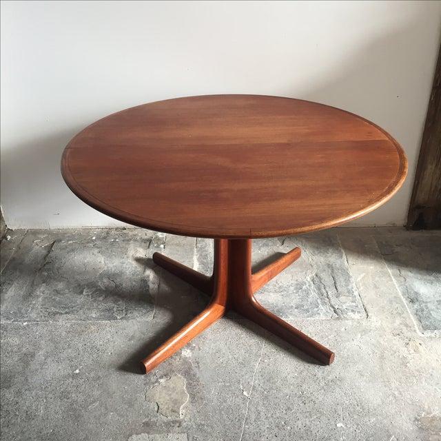 Mobler Teak Pedestal Dining Table - Image 3 of 8