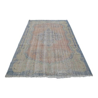 Antique Turkish Oushak Rug - 6′2″ × 9′5″