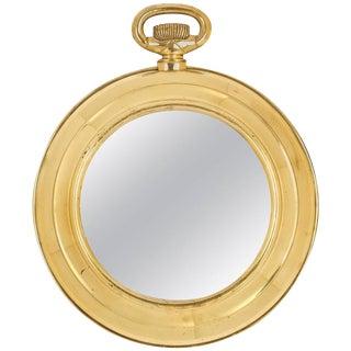 "French Art Deco ""Pocket Watch"" Mirror"