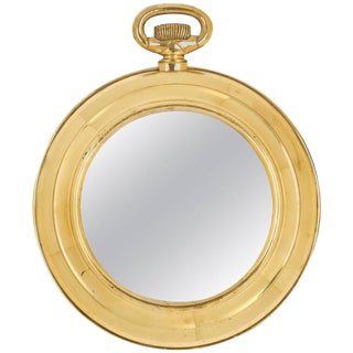 "French Art Deco ""Pocket Watch"" Mirror"