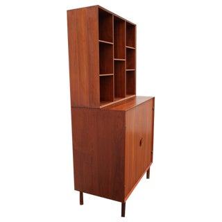 Solid Teak Cabinet by Hvidt + Mølgaard with Removable Bookcase, 1960s