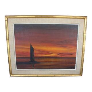 """Llewellyn Xavier """"Obe"""" Oil Painting"""