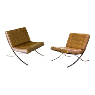 Mid-Century Barcelona Style Chairs - A Pair