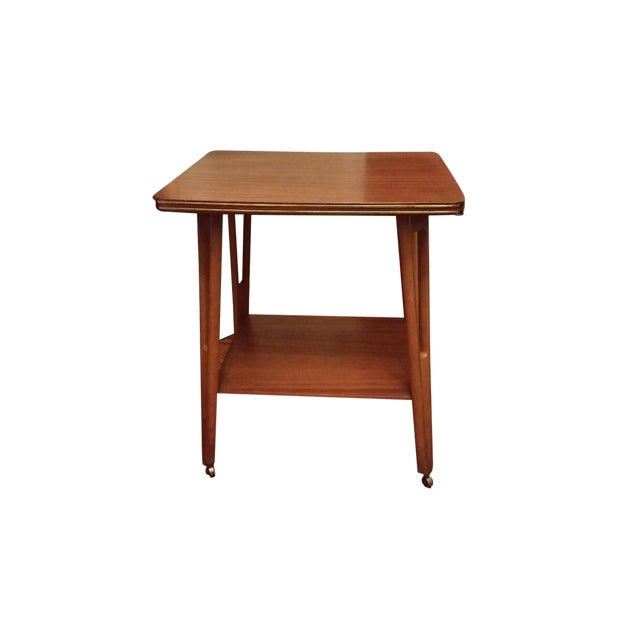 Mid-Century Modern Rolling Side Table - Image 1 of 5