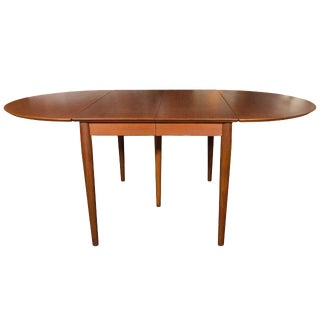 Danish Modern Teak Drop Leaf Extension Dining Table