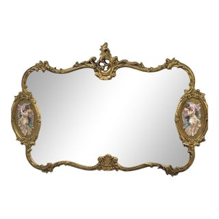 Antique Italian Baroque Gold Gilded Mirror