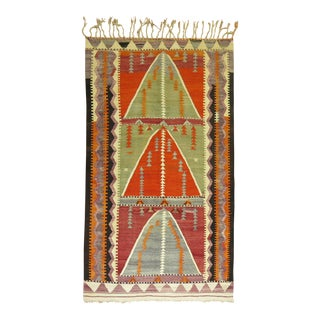 Circa 1960 Turkish Kilim Rug - 3'5'' x 5'11''