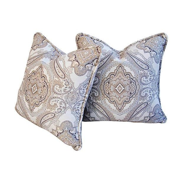 Rodin Pewter Medallion Pillows - A Pair - Image 3 of 6