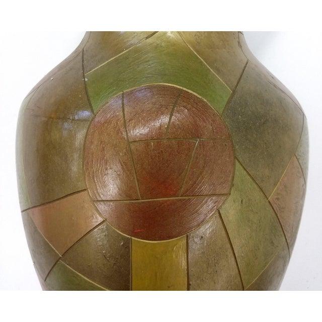Unique Chinese Vintage Patchwork Ceramic Vase - Image 2 of 9