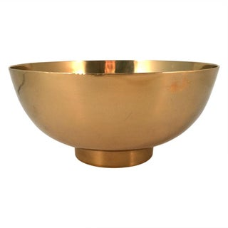 Large Vintage Modernist Brass Bowl