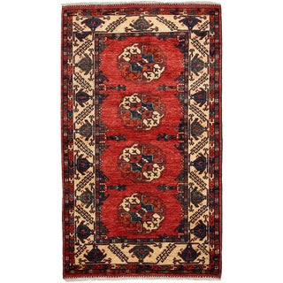 """New Khyber Hand Knotted Runner - 3'5"""" x 5'9"""""""