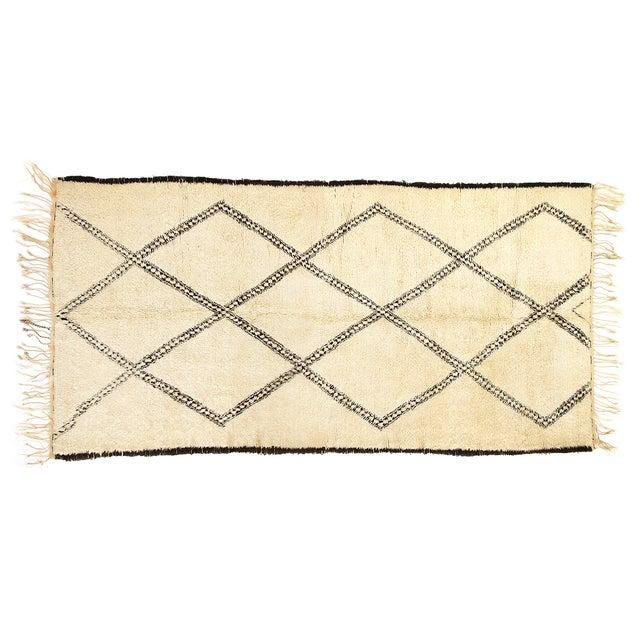 "Vintage Beni Ourain Moroccan Rug - 6'3"" X 11'9"" - Image 2 of 2"