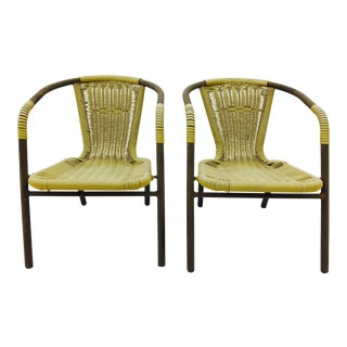 Woven Metal Children's Chairs - A Pair