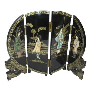 Black Lacquered Table Screen