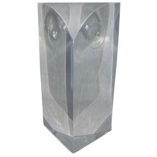 Mid-Century Modern Lucite Owl Sculpture