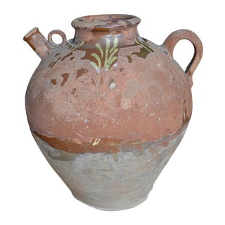 Antique French Terracotta Rustic Jug