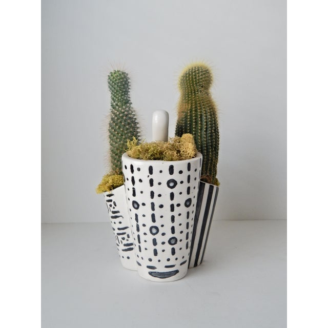 Image of Hand Painted Cactus Planter