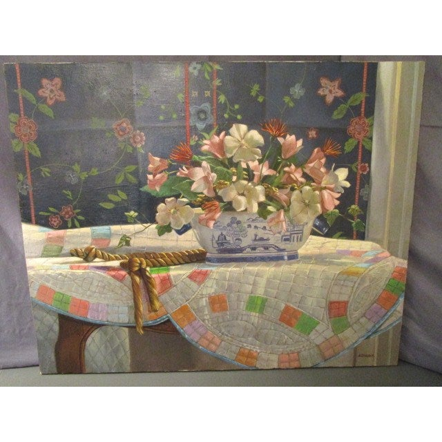 "Ardis Shanks ""Chinese Export"" Still Life Painting - Image 5 of 7"