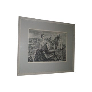 Original 1940s Lithograph by Magravite