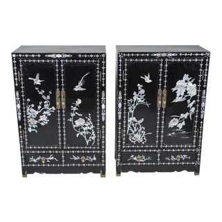 Mother of Pearl Inlaid Cabinets - A Pair