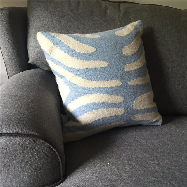 Image of Jonathan Adler Pop Zebra Wool Throw Pillow