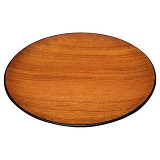 Minimalist Round Teak Tray