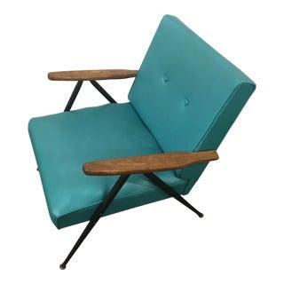1950s Teal Vinyl Lounge Chair