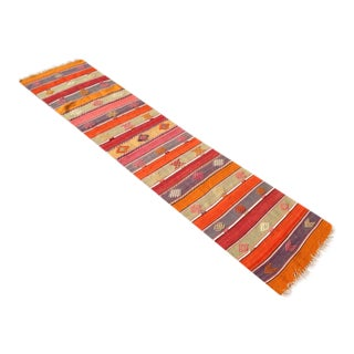Vintage Turkish Kilim Runner - 2′ × 8′ and 0.2″