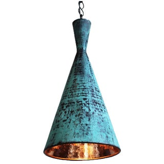 Hand Hammered Copper Corong Light