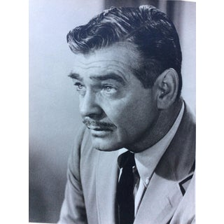 Original 40's Clark Gable Photo Stamped Bud Fracker 11x14