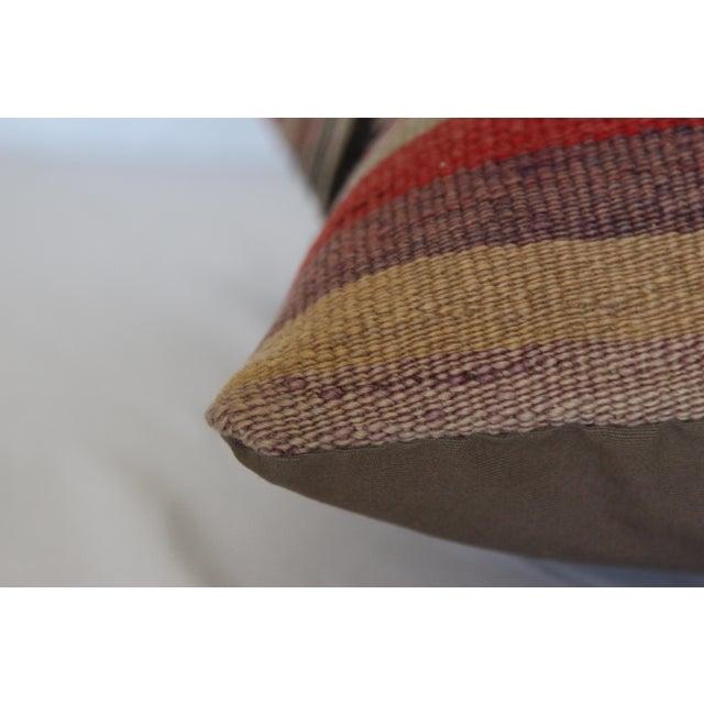 "Turkish Vintage Kilim Pillowcase - 16"" x 16"" - Image 5 of 6"
