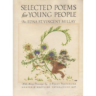 1920s Original Art Nouveau Book Cover Illustration by Joseph Rous Paget-Frederick