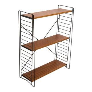 Standing Tomado Teak and Metal Bookshelf