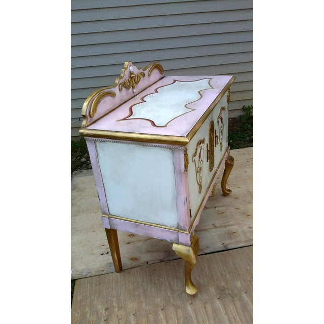 Custom Hand Painted Queen Anne Style Server - Image 4 of 9