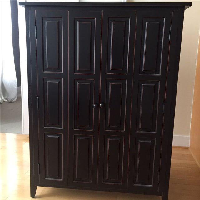 Image of Traditional Black Entertainment Armoire
