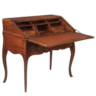 Louis XV Style Walnut Drop-Front Secretaire/Desk