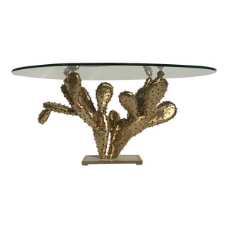 "Gilt Brass Cactus Coffee Table ""Amalfi"" by Alain Chervet"
