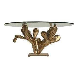 """Gilt Brass Cactus Coffee Table """"Amalfi"""" by Alain Chervet"""