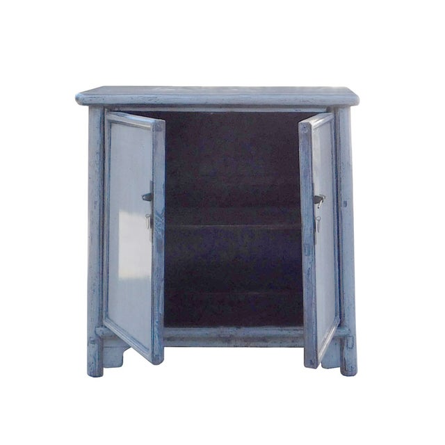 Chinese Rustic Gray Side Cabinet - Image 5 of 6