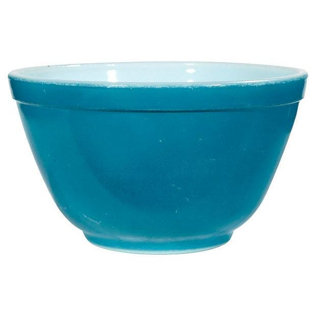 Image of 1960's Blue Pyrex Mixing Bowl