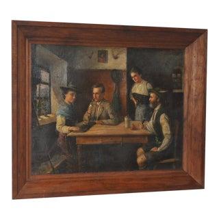 19th Century European Oil Painting on Canvas
