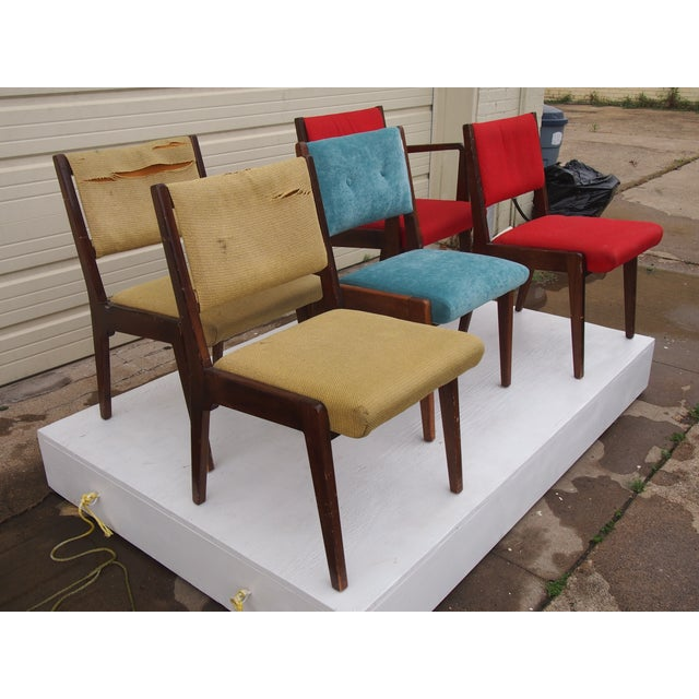 Risom American Modern Dining Chairs - Set of 8 - Image 3 of 4