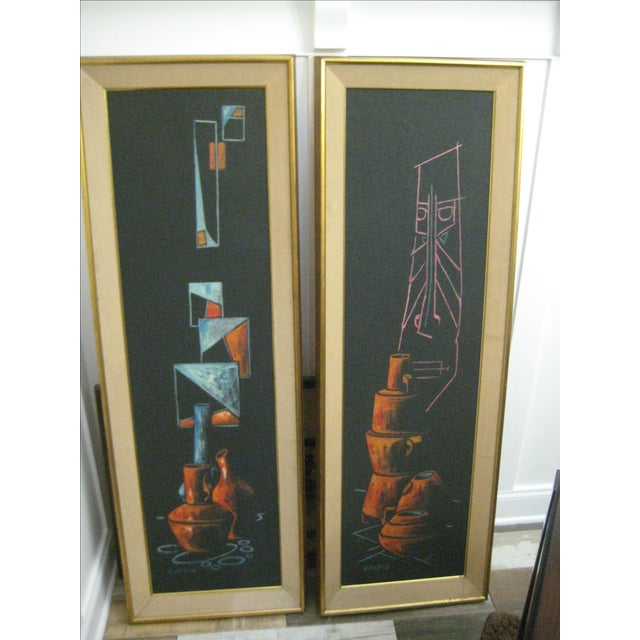Image of Early 1900 Original Cay Skot Paintings - A Pair