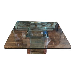 Vintage Pace Chrome & Glass Coffee Table